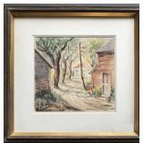 Edith Wyckoff Kuchler (1887 - 1966) Watercolor
