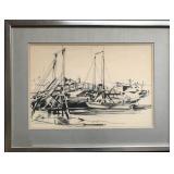 J Thurston Marshall (1908 - 1982). Watercolor