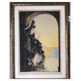 """Louis Icart, """"Seville"""" Signed Etching 1928"""