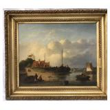 Well Done Unsigned 19th Century Oil on Canvas