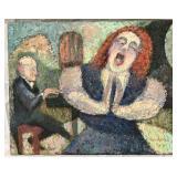 "Samuel Reindorf, ""Recital"" Oil on Canvas"