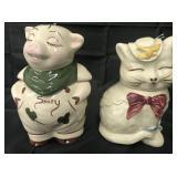 McCoy Smiley Pig & Puss N Boots Cookie Jars