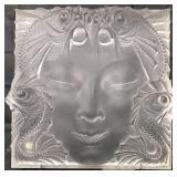 """Lalique """"Masque de Femme"""" Art Glass Sculpture"""