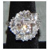 Platinum Diamond Retro Ring.