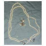 Group of Vintage Cultured Pearl Pieces.