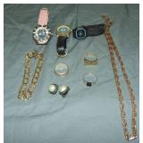 Gold and Silver Jewelry Lot.