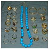 Estate Gold and Silver Jewelry Lot.