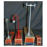 3 Unusual Boxed Lionel Lampposts