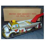 Tin Litho Marx Friction Emergency Service Truck.