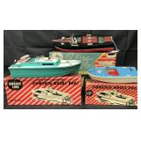 3 Boxed Wood & Plastic Battery-Op Boats