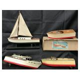 3 Nice Wood Battery-Operated Boats