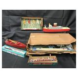 Assorted Vintage Wooden Boats, Plus