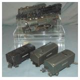 3 Lionel Steam Locomotives & Tenders