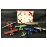 7Pc TootsieToy Airplane Lot