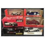 5 Boxed Solido Vehicles
