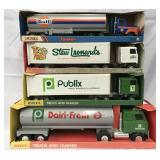 10 Boxed Etrtl Pressed Steel Trucks