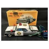 Boxed ASC Battery Op R/C Siren Patrol Car