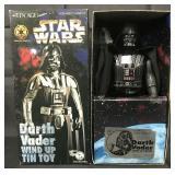Boxed Star Wars Tin Age Darth Vader Windup, Osaka
