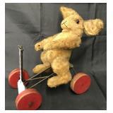 Early Steiff Rabbit on Wheels