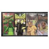Set of 4 Universal Studios Monster Windup Toys