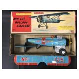 Boxed Battery Op Rosko Bristol Bulldog Airplane