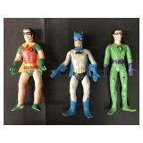 (3) Mego Bendable Figures, Batman, Robin, Riddler