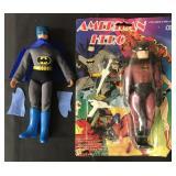 Mego Batman Figure & American Hero Figure