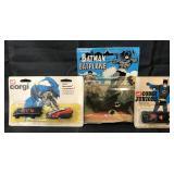 MOC Corgi Batmobile & Batboat, & AHI Batplane