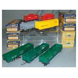 7 LN Boxed American Flyer Freight Cars