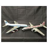 (2) Tin Marx Toy Airplanes, Flying Tiger & Pan Am