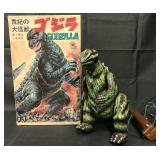 Boxed Japanese Bullmark Tin Godzilla Toy