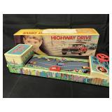 Boxed Tin Battery Op Highway Drive, Nomura Japan