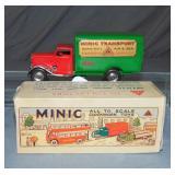 Boxed Tin Windup Tri-Ang Minic Delivery Van