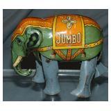 B&S Tin Litho Windup Elephant, US Zone Germany