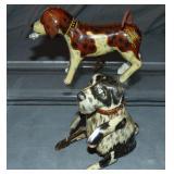 (2) Tin Litho Windup Dog Toys