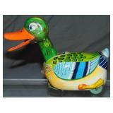 Tin Litho Windup Mechanical Mystery Duck, Japan