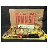 Boxed Marx Mechanical Train Set in Box