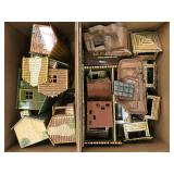 Lot of Tin Lithographed Playset Buildings