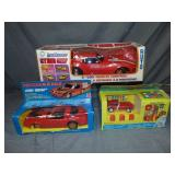 3 Boxed Vintage Battery Vehicles