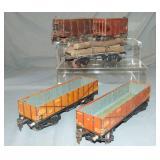 5 Marklin O Gauge Freight Cars