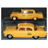 2 Clean 1950s Plymouth Taxi Promos
