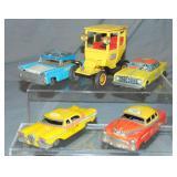 5 Vintage Tin Taxi Vehicles