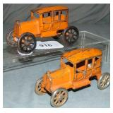 2 Early AC Williams Cast Iron Taxis