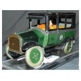 Unusual Green Strauss Tin Chek-A-Cab