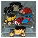 6 Restored Cast Iron Taxis
