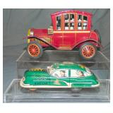 2 Vintage Tin Toy Cars