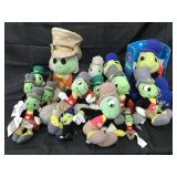 (15) Jiminy Cricket Disney Plush Figures
