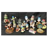 (13) Disney Jiminy Cricket Figurines