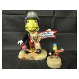 (2) Disney Jiminy Cricket Ron Lee Sculptures