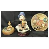 (3) Disney Jiminy Cricket Italian Sculptures